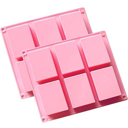 (2�St�ck) 6�Mulden, Uni Basic Rechteck Silikon Form f�r Homemade Craft Seife Schimmel, Kuchen Form, Biscuit Schokolade Schimmel, Ice Cube Tablett