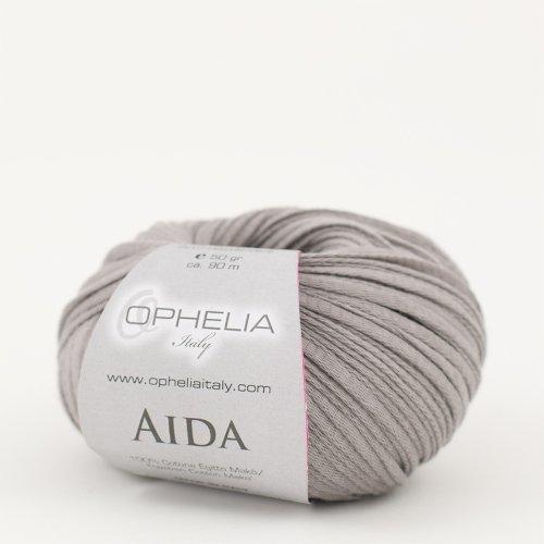 Ophelia Italy Aida – Fettuccia Cotone 50g fettuccia 5mm 100% Puro Cotone Egiziano Makò (014 Grigio)
