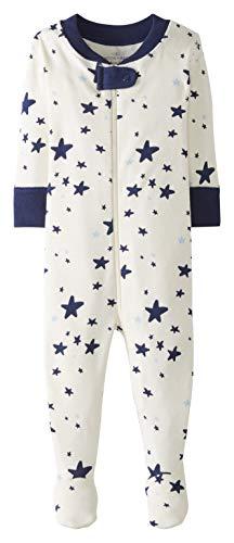 Moon and Back by Hanna Andersson Einteiliger Schlafanzug mit Fuß Infant-and-Toddler-Sleepers, Marineblau, 3 Jahre