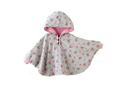 TININNA Baby Kinder Kleinkind Winter Kapuze Cape Mantel Umhang Poncho Mädchen Jungen rosa 1-2 Jahre EINWEG Verpackung