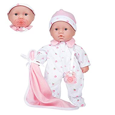 Caucasian 11-inch Small Soft Body Baby Doll | JC Toys – La Baby | Washable |Removable Pink Outfit w/ Hat & Blanket | For…
