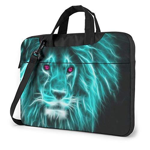HD Neon Lion Unisex Laptop Bag Messenger Bolsa de Hombro para computadora Maletín Funda de Transporte