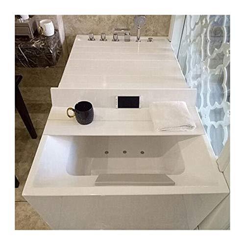 ZHANWEI Badewannenabdeckung Staubdichte Badewannenablage,Faltbar Staubdicht Multifunktionsregal, Badewanne Isolierung Badetablett Verschiedene Größen (Color : White, Size : 170x75x0.7cm)