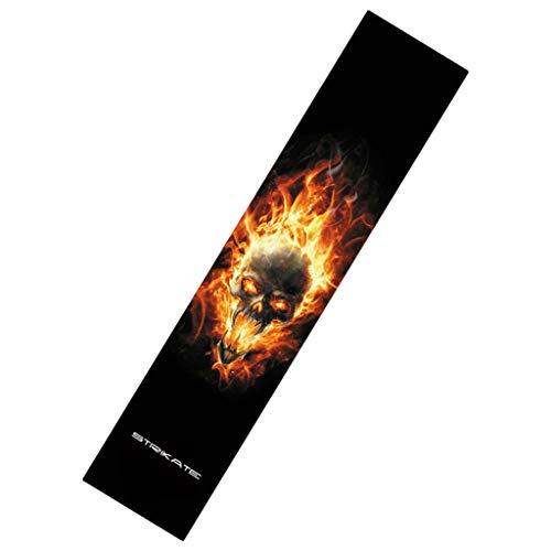freneci 48 '' Skateboard Longboard Griptape Deck Papel de Lija Scooter Grip Tape Sticker - Llama de Calavera, Talla única