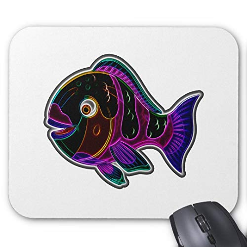 Mauspad, rutschfest, rechteckig, für Computer/Laptop, 20 x 24 cm, Papageienfisch