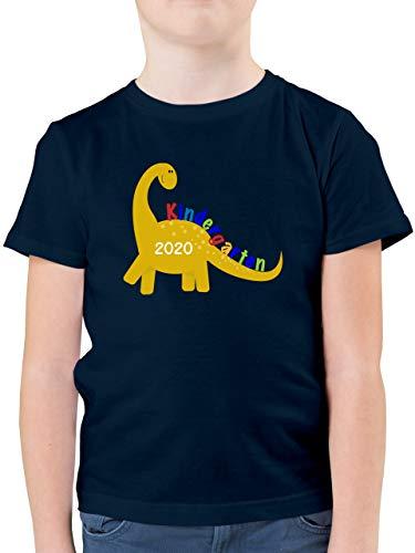 Kindergarten - Kindergarten 2020 -Dino - 116 (5/6 Jahre) - Dunkelblau - Kindergarten 2018 Shirt Junge - F130K - Kinder Tshirts und T-Shirt für Jungen