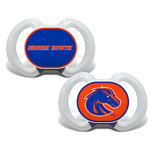 Baby Fanatic NCAA Legacy Infant Pacifiers, Boise State Broncos, 2 Pack