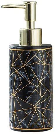 ANDYLV Seifenspender,Keramikseifenspender, Pumpflasche, Flüssigkeitsseifenspender, geeignet für Bad und Küche (schwarz)