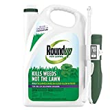 Roundup For Lawns4 Ready to Use - For Use on Southern Grasses, For Use on Bluegrass, Fescues, and Perennial Ryegrass, Kills Over 90 Weed Types Including Dandelion, Clover, and Nutsedge, 1 gal.
