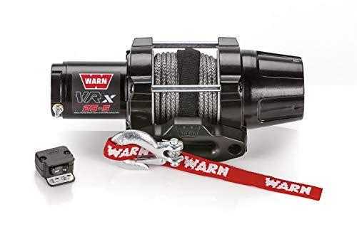 Best Price! WARN 101020 VRX 25-S Powersports Winch with Handlebar Mounted Switch and Synthetic Rope:...