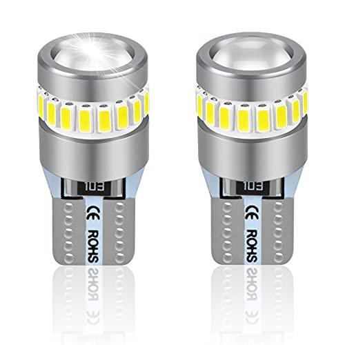 T10 LED Bombillas W5W 12V 6000K Blanco Para Coches Luces De La...
