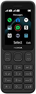 "Nokia 125 Feature Phone, Dual SIM, 2.4"" Display, Large Keymat - Black"