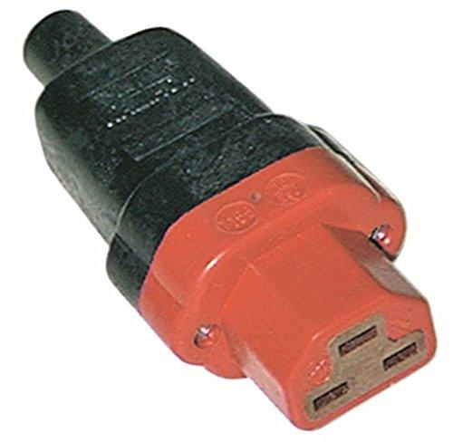 Stekkerdoos met schroefaansluiting rechte silicone 10A/250V C21 T200 C21 max 10A/250V T200 schroefaansluiting