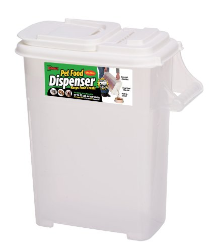 Buddeez Large (Up to 12lb) Fresh Dry Dog & Cat Food Plastic Storage Container with Flip Lid and Pour...