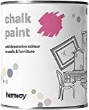 Hemway, pittura a gesso, vernice opaca, pittura per pareti e mobili, 1l, shabby chic, vintage, gessosa, disponibile in 14 colori, rosa