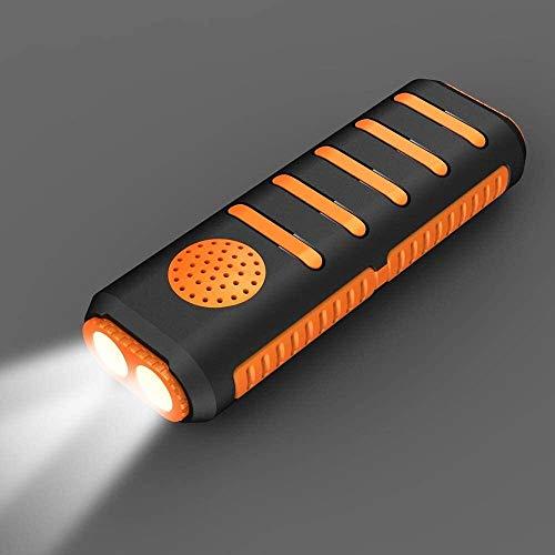 FANLIU 3 en 1 Double lumières LED Haut-Parleur Bluetooth de Charge au trésor, 5200mAh Mobile Power USB Recharge Lampe de Poche 50 mètres Distance Efficace, Convient for l'éclairage et la Musique