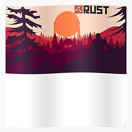 Logo Meme Game Rust Survival Games Survive Fun Home Decor Wall Art Print Poster ! Home Decor Wandkunst drucken Poster !