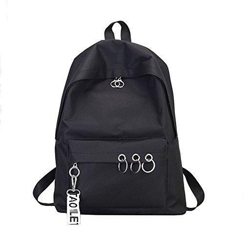 Rugzak dames kleine waterdichte schoudertassen nylon casual schoudertas daypacks dames kleine rugzak anti-diefstal schoolrugzak zwart