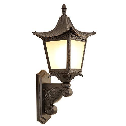 Lámpara De Pared Al Aire Libre Linterna China Aplique De Pared Luz E27 Vintage Impermeable A Prueba De Herrumbre Decoración Exterior Linterna De Pared De Aluminio Para Pasillo Villa Patio Jardín