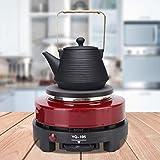 EFFACER Calentador de café con Enchufe UE 220-240 V Rojo, calientaplatos domésticos, para Mantener Calientes Las Bebidas y sopas en el hogar, la Oficina