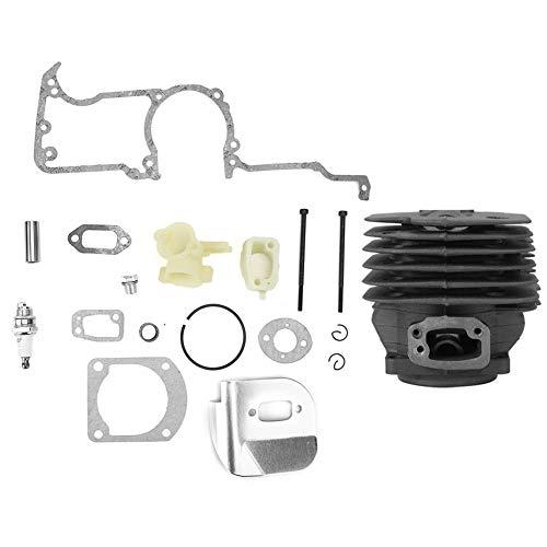 Atyhao Kit de pistón de Cilindro para Husqvarna 162 266 266SE 61 Motosierra Piezas de Repuesto Accesorios Herramientas de jardín