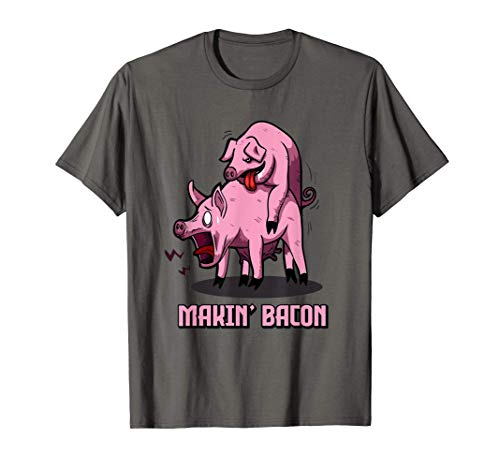 Makin Bacon | Bacon Liebhaber Speck Fan | Bacon T-Shirt