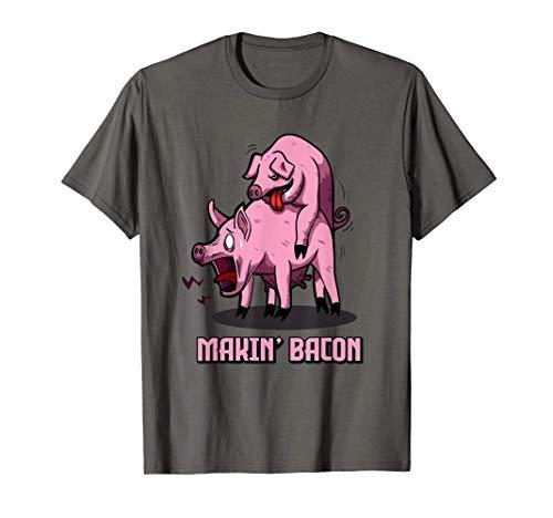 Makin Bacon   Bacon Liebhaber Speck Fan   Bacon T-Shirt