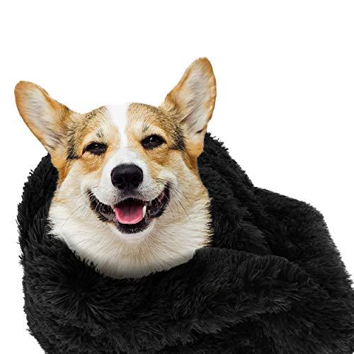 The Dog's Blanket Couverture pour chien en forme de donut Noir 72 x 107 cm