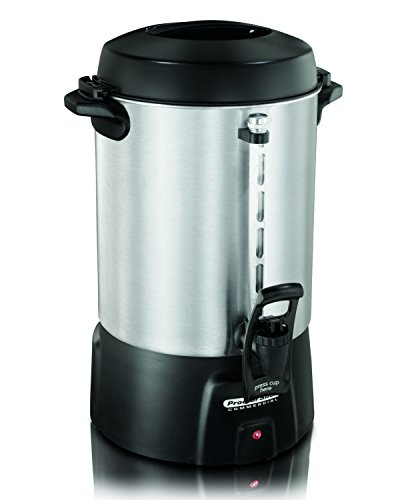 "Proctor Silex Commercial 45060R Coffee Urn 60 Cup Aluminum, One Hand Dispensing, Coffee Level Indicator, 16.93"" Height, 11.73"" Width, 12.56"" Length, Stainless Steel"