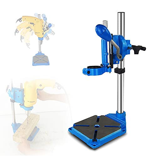 FRIBLSKEL Multifunction Benchtop Drill Press, Table Top Drill Press 90° Rotatable Multi Angle Operation, Bench Drill 38-43mm Clamping Range Height Adjustable,A