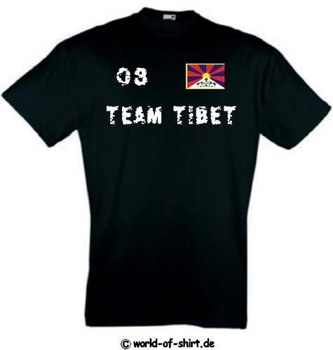 world-of-shirt Herren T-Shirt Tibet Team im Trikot Look