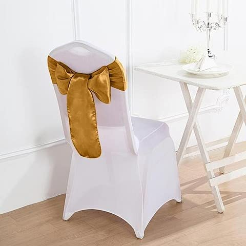 Credence BalsaCircle 100 online shop Antique Gold Satin Chair Bows Sashes Ties We for