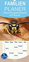 Makrofotografie: Wespen und Bienen - Familienplaner hoch (Wandkalender 2022 , 21 cm x 45 cm, hoch): Wunderschoene Makroaufnahmen von Bienen und Wespen (Monatskalender, 14 Seiten )