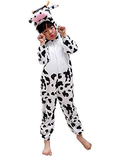 Kuh kostüm - 8/9 jahre - verkleidungen für kinder - halloween - karneval - mädchen - junge - unisex - cosplay - größe xxxl - originelle geschenkidee cosplay