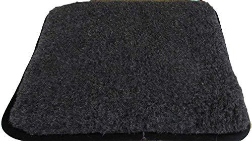 Alpenwolle Sitzkissen Sitzunterlage Stuhlkissen Sitzpolster 40x40cm 100% Wolle/Kunstleder