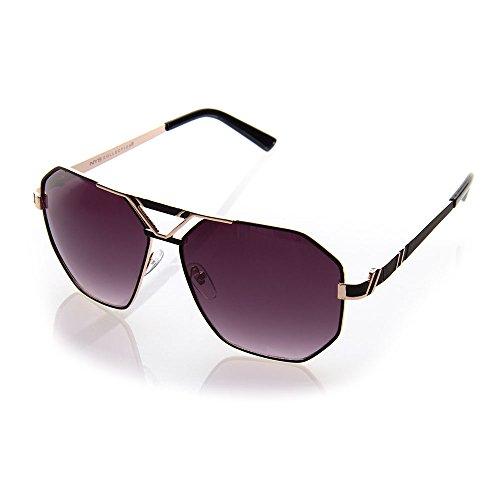 NYS Collection Marshall Street Aviator Sunglasses (Silver, Smoke)