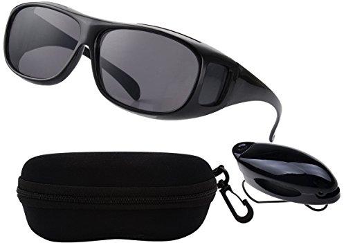 """Unisex """"Clear Vision Pro"""" Sonnenbrille Überziehbrille HD Kontrast Fahrbrille mit UV-Schutz gegen blendendes Licht. Blendschutzbrille für scharfes Sehen bei Sonnenstrahlung"""