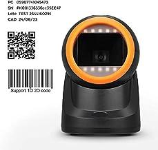 MUNBYN Lector de Código de Barras 1D / 2D Omnidireccional, Escanér Automáticamente Barcode Scanner con Lente Angulo Ajustable para Windows/Linux/Mac (No Soporte Código de Barras médico)