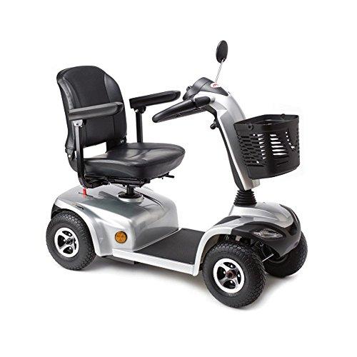 APEX I-Tauro| Scooter eléctrico 4 ruedas| Ideal para ñlargas jornadas y excursiones| para personas mayores y discapacitados| potente motor y ruedas|asiento y columna de conducción regulable| Diseño moderno plateado| Ruedas antivuelco| luces delanteras y de freno| funda de almacenaje|baul delantero y cesta trasera|primera calidad y resistencia| Entrega en planta baja