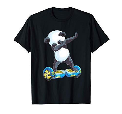 Cute Dabbing Panda Skater Electric Self Balancing Hoverboard T-Shirt
