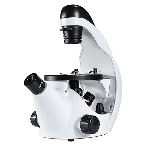 LIPETLI Umgekehrte Kreatur Mikroskop Optisch Hoch Leistung Metall Biologisch Mikroskop Kinder LED Objektiv Okular Mechanischer Objekttisch Ultra Präzise Fokussierung