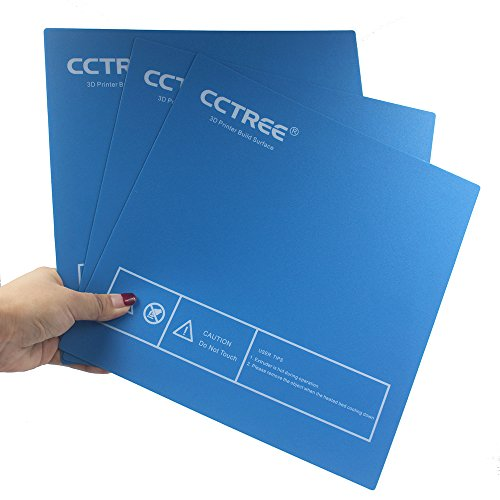 CCTREE - Superficie de impresión para impresora 3D Ender-3, Ender 3 Pro, Anet A8, TEVO Tarantula Prusa i3, impresora 3D casera, 235 x 235 mm (paquete de 3)