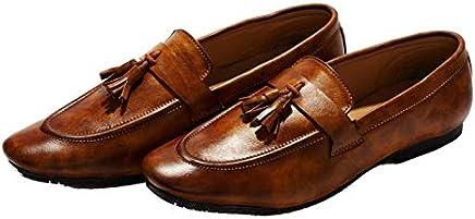 Hush Berry Men's Professional Knot Handmade Tassel Loafer Shoes