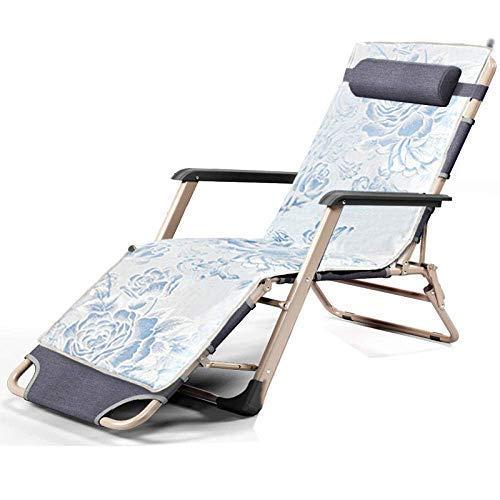 LLSS Sillón reclinable reclinable de Gravedad Cero, Tumbona Plegable, Hamaca Exterior, Transpirable, cómoda Capacidad de Carga 200 kg