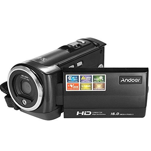 AndoerTelecamera HDV-107 Videocamera Digitale HD 720P 16MP DVR 2.7 '' TFT LCD 16x Zoom