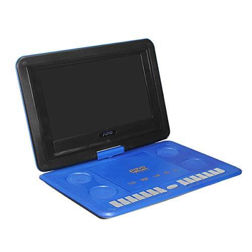 Nrpfell Reproductor de DVD PortáTil 13.8 Pulgadas HD TV PelíCulas LCD MóVil Giratorio USB RotacióN de Pantalla para Coche Video Juegos Multimedia Juego EU Plug A