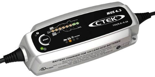CTEK (56-864) MUS4.3 12 Volt Fully Automatic 8 Step Battery Charger,Black