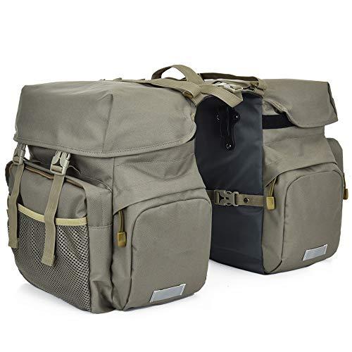 Lixada Bike Panniers Bag Waterproof Rear Seat Bicycle Bag Trunk Bags Saddle Bag with Rain Cover for Travel Camping