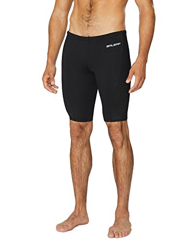 BALEAF Men's Athletic Durable Training Polyester Jammer Swimsuit Black 34