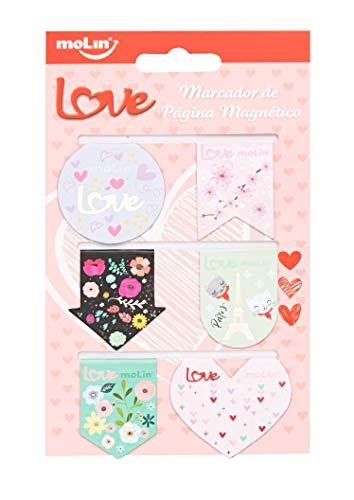 Marcador de Página Magnético Love 6 Unids Molin